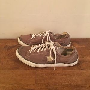 Brown Converse One Star Shoes